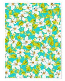Póster White Florals