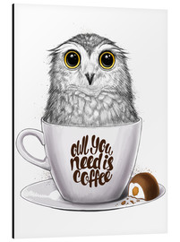 Cuadro de aluminio  Owl you need is coffee - Nikita Korenkov