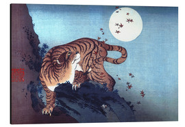 Aluminio-Dibond  The Tiger and the Moon - Katsushika Hokusai