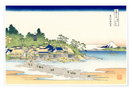 Póster enoshima in the sagami province