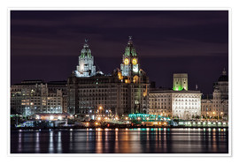 Póster Liverpool at Night