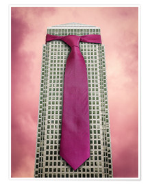 Póster Tie on a London Skyscraper