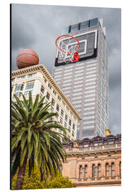 Cuadro de aluminio  Basketball hoop on skyscraper - James Popsys