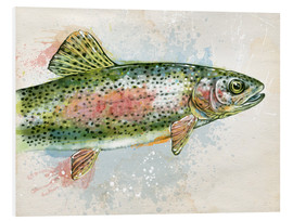 Cuadro de PVC  Splashing Rainbow Trout - Ashley Verkamp