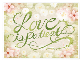 Póster  Love Is Patient - Ashley Verkamp