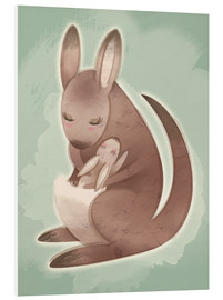 Cuadro de PVC  Mamma and baby kangaroo - Ashley Verkamp