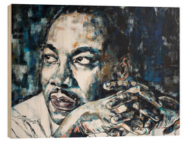 Cuadro de madera  Martin Luther King - Christel Roelandt