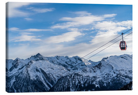 Lienzo  Ski Resorts in the winter - Mike Clegg Photography