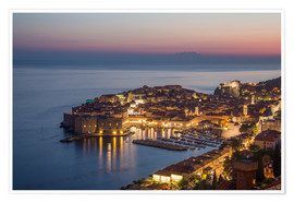 Póster  Dubrovnik at Sunset - Mike Clegg Photography