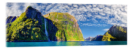 Cuadro de metacrilato  Milford Sound with Stirling Falls New Zealand - Michael Rucker