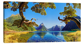 Lienzo  Look in the Milford Sound New Zealand - Michael Rucker