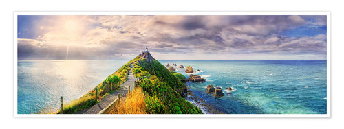 Póster Nugget Point Panorama New Zealand