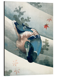 Cuadro de aluminio  Duck Swimming in Water - Katsushika Hokusai