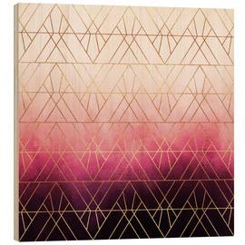 Madera  Pink Ombre Triangles - Elisabeth Fredriksson
