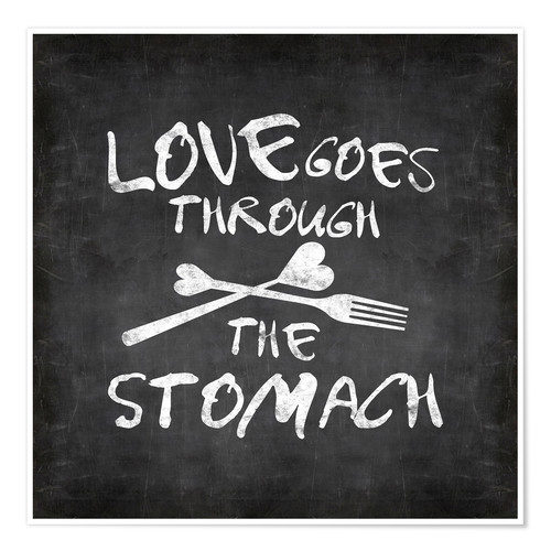 Póster Love goes through the stomach