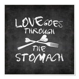 Póster  Love goes through the stomach - Andrea Haase