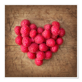 Póster Heart from berries