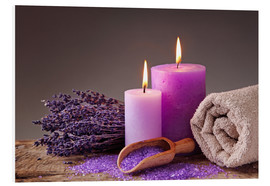 Forex  Spa still life with candles and lavender - Elena Schweitzer