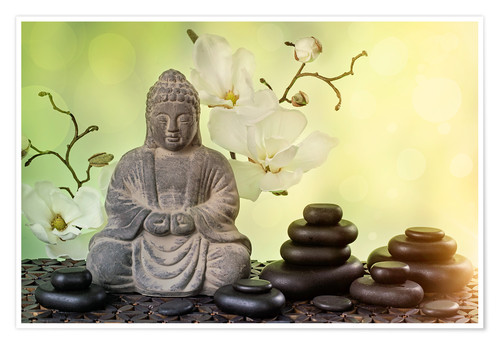 Póster Buddha in meditation, religious concept