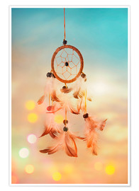 Póster  Dream catcher and abstract bokeh background - Elena Schweitzer