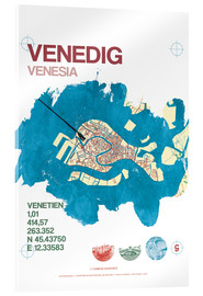 Metacrilato  Mapa de Venecia - campus graphics
