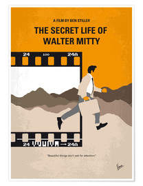 Póster  No806 My The Secret Life of Walter Mitty minimal movie poster - chungkong