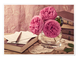 Póster Roses and the books