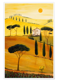 Póster  Colored Tuscany - Christine Huwer