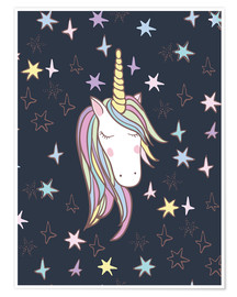 Póster  Unicornio por la noche - Kidz Collection