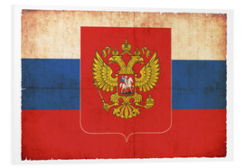 Cuadro de PVC  Old flag of Russia with coat of arms in grunge style - Christian Müringer