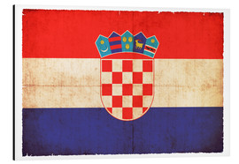 Cuadro de aluminio  Old flag of Croatia in grunge style - Christian Müringer
