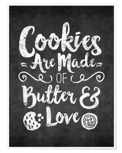 Póster cookies are made with love