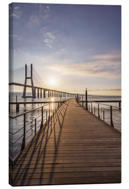Lienzo  Vasco da Gama Bridge Lisbon - Achim Thomae