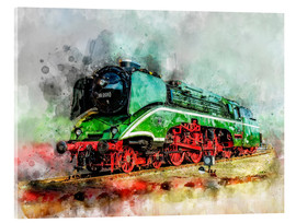 Cuadro de metacrilato  Steam locomotive 18 201, the fastest steam locomotive in the world - Peter Roder
