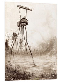 Forex  Martian tripods advancing in a line - Henrique Alvim Correa