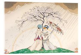 Metacrilato  Two women sheltering from the rain, under a tree - Georges Barbier