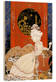 Cuadro de madera  A woman reading a letter - Georges Barbier