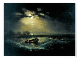 Póster  Pescador en el lago - Joseph Mallord William Turner