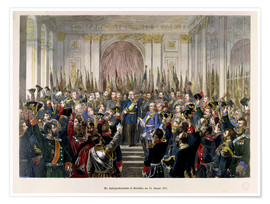 Póster The Proclamation of Wilhelm as Kaiser of the new German Reich