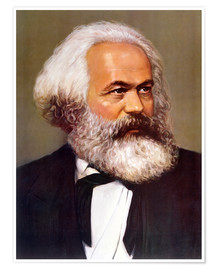 Póster Portrait of Karl Marx