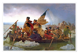 Póster George Washington Crossing the Delaware River, 25th December 1776