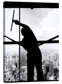 Lienzo  Empire State Window Washer