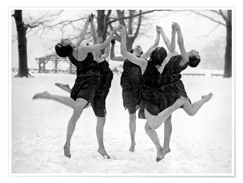 Póster Barefoot Dance In The Snow