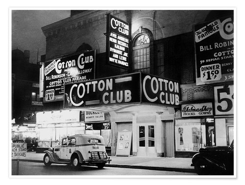Póster Cotton Club en Harlem, Nueva York