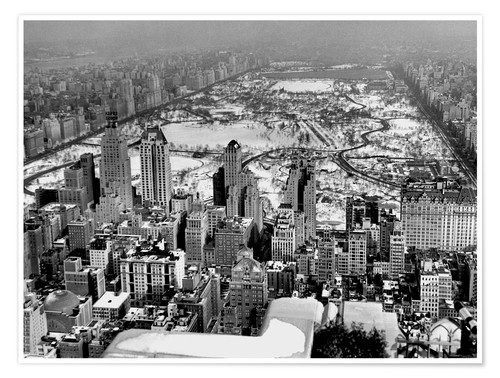 Póster Historical Midtown And Central Park