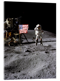 Metacrilato  Astronaut of the 10th manned mission Apollo 16 on the moon