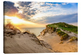 Lienzo  Sunset in the dunes at Lonstrup - Reemt Peters-Hein