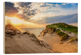 Cuadro de madera  Sunset in the dunes at Lonstrup - Reemt Peters-Hein