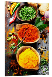 Forex  Spices and herbs over Wood