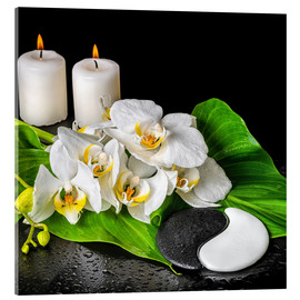 Cuadro de metacrilato  Spa concept with candles and orchids
